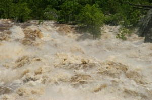 Image result for images of the jordan river at flood stage