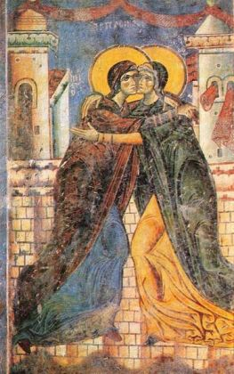 The Embrace of Elizabeth and the Virgin Mary (Source: Wikimedia Commons)