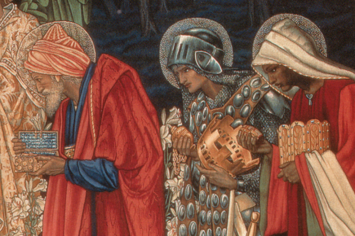 Detail of the Three Kings from The Adoration of the Magi, tapestry