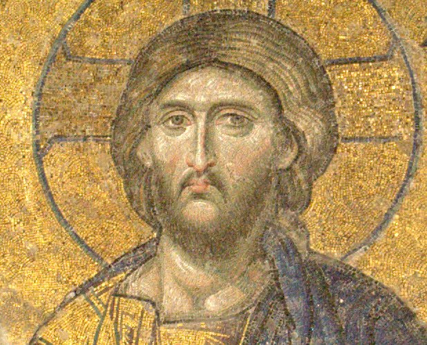 Icon of Jesus, Hagia Sophia, Makarios the Great, Theosis