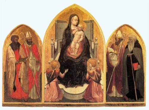St. Juvenal Triptych, Adoration of the MagiMasaccio, 1422 (source)
