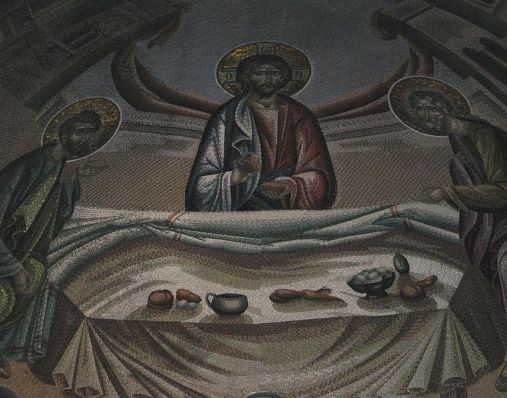 Supper at Emmaus, mosaic