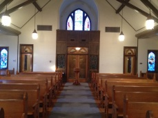 Looking towards the narthex from the sanctuary.