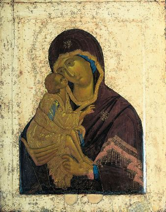 Icon of the Theotokos by Theophanes the Greek, 14th century (source)