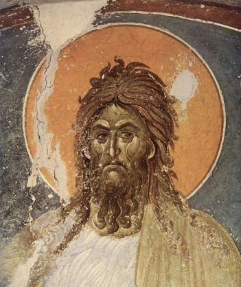 St. John the Baptist by Meister von Gracanica, circa 1235 (source)