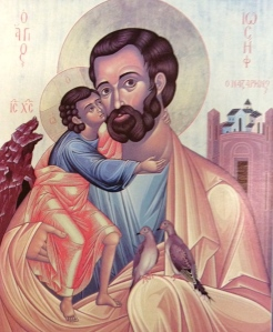 Icon of St. Joseph and Jesus