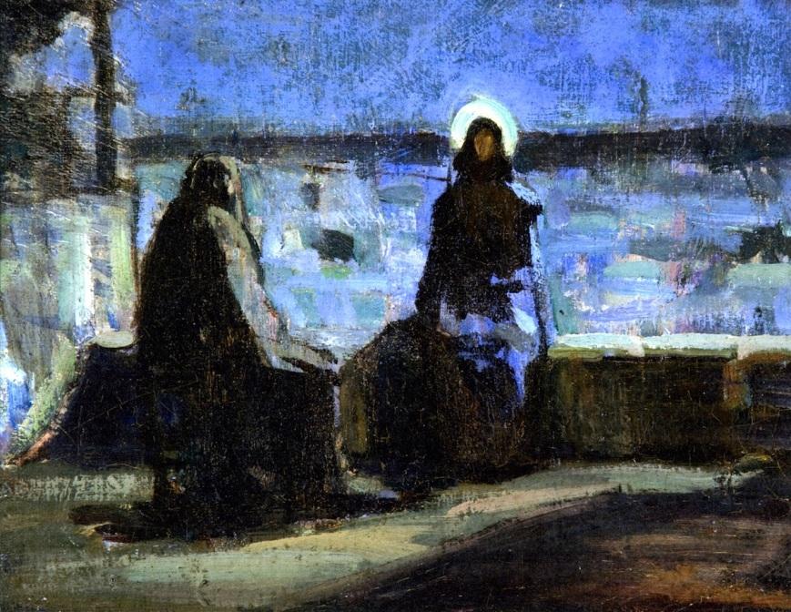 Nicodemus, John 3:1-17, Lent 2A, Born from above, Henry Ossawa Tanner