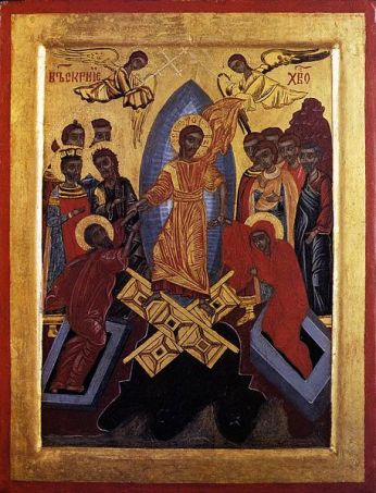Holy Week, Sermon, Holy Saturday, Great Saturday, Icon Harrowing of Hell, Descent into Hell