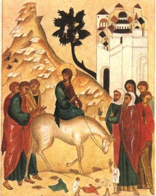 Triumphal Entry, Icon, Palm Sunday, Sunday of the Passion, Matthew 21:1-11, Matthew 27:11-54, Sermon, Turmoil, Earthquake, Holy Week
