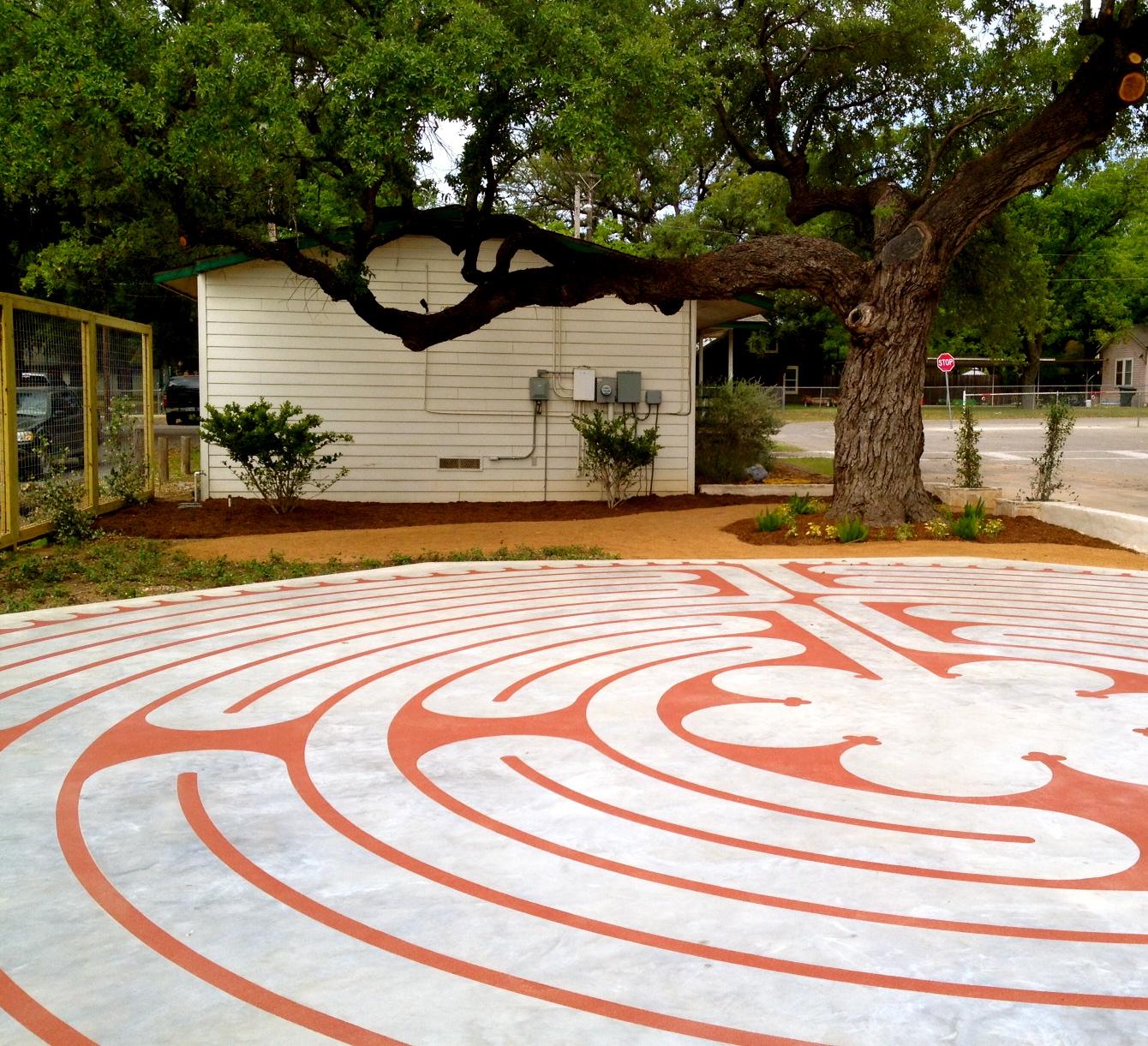 Blessing, Labyrinth, Prayer Garden, Feast of St. Philip