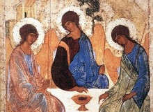 Rublev, Icon of the Holy Trinity, Hospitality of Abraham, Trinity Sunday, Feast of the Holy Trinity, Sermon, Matthew 28:16-20, Genesis 1:26-27