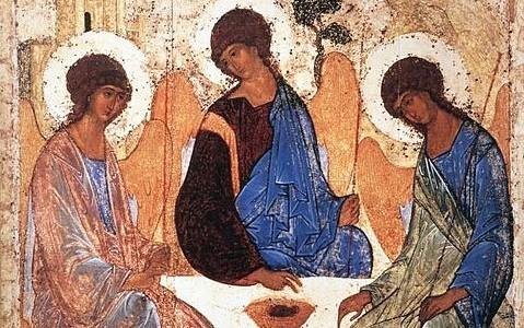 Rublev, Icon of the Holy Trinity, Hospitality of Abraham, Trinity Sunday, Feast of the Holy Trinity, Sermon, Matthew 28:16-20, Genesis 1:26-27