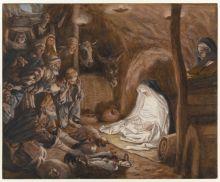 Adoration of the Shepherds, Luke 2:8-20, Sermon, Christmas Day, Nativity of Jesus, Incarnation, James Tissot