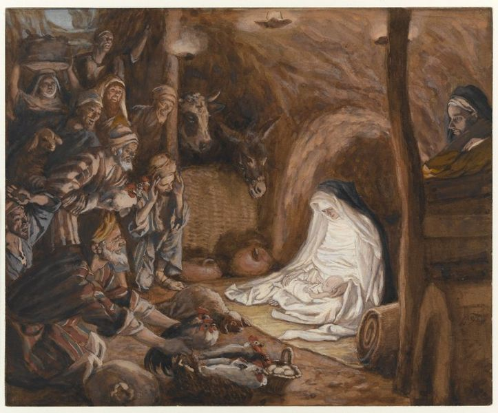 Adoration of the Shepherds, Luke 2:8-20, Sermon, Christmas Day, Nativity of Jesus, Incarnation, James Tissot