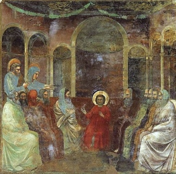 Luke 2:41-52, Sermon, Jesus at age 12, Christmas 2, Christ Among the Doctors, Growing Up, Giotto diBondone