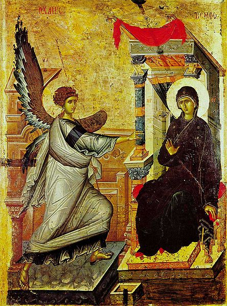Icon of the Annunciation, Feast of the Annunciation, Luke 1:26-38, Womb, Tomb, Blessed Virgin Mary, Sermon