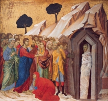 Duccio's The Raising of Lazarus (source)