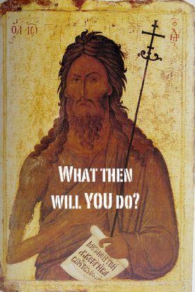 Sermon, Advent, Advent 3C, Luke 3:7-18, Repentance, John the Baptist, San Bernardino Shooting