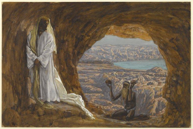 Lent, Lent 1C, Temptation, Temptation of Jesus, Matthew 6:1-6 16-21, Sermon, Jesus in the Wilderness, James Tissot