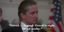 Luke 12:13-21, Greed, Rich Toward, Proper 13C, Wall Street, Gordon Gekko