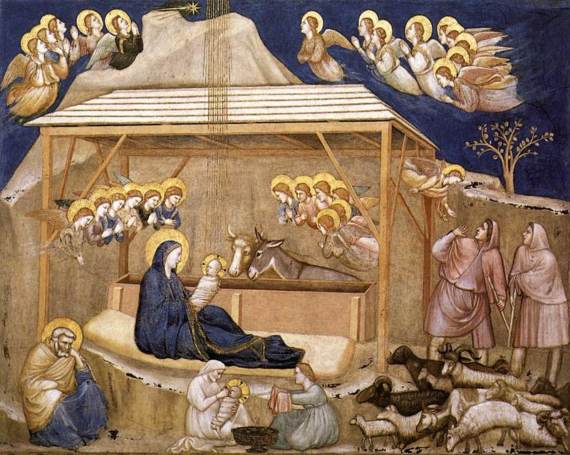 Nativity, Giotto, Christmas, Proclamation, Incarnation, Christmas Proclamation