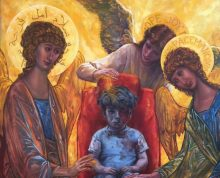 """""""Omran, Angels Are Here!"""" Copyright 2016 by Judith Mehr, used by permission."""
