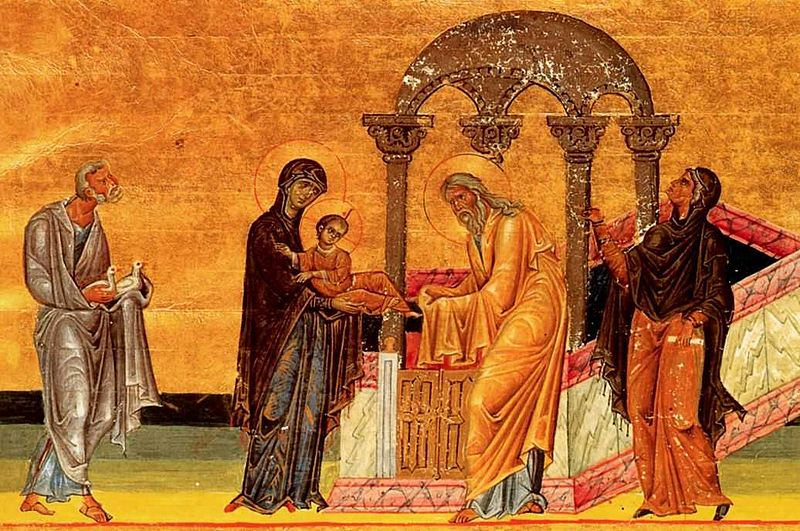 Icon, Luke 2:22-40, Sermon, Presentation of Jesus, Feast of the Presentation, Simeon
