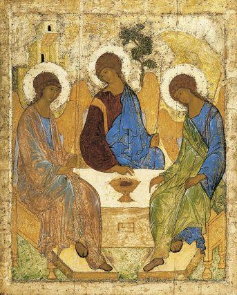Trinity Sunday, Hospitality of Abraham, Holy Trinity, Sermon, Andrei Rublev, Matthew 28:16-20