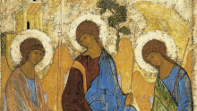 Matthew 28:16-20, Trinity Sunday, Hospitality of Abraham, Holy Trinity, Sermon, Andrei Rublev, Icon