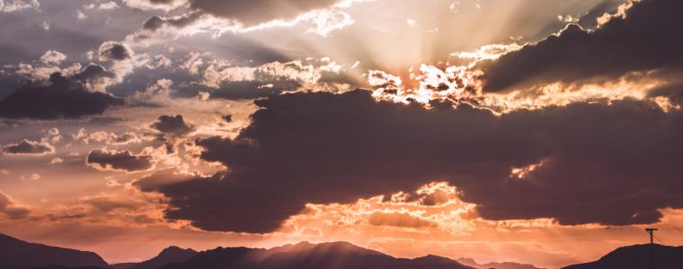 Resurrection, Matthew 16:21-28, Sermon, Proper 17A, Sunrise Over Mountains
